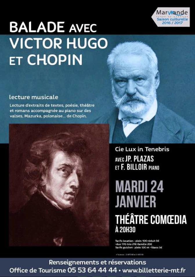 Balade avec Victor Hugo et Chopin